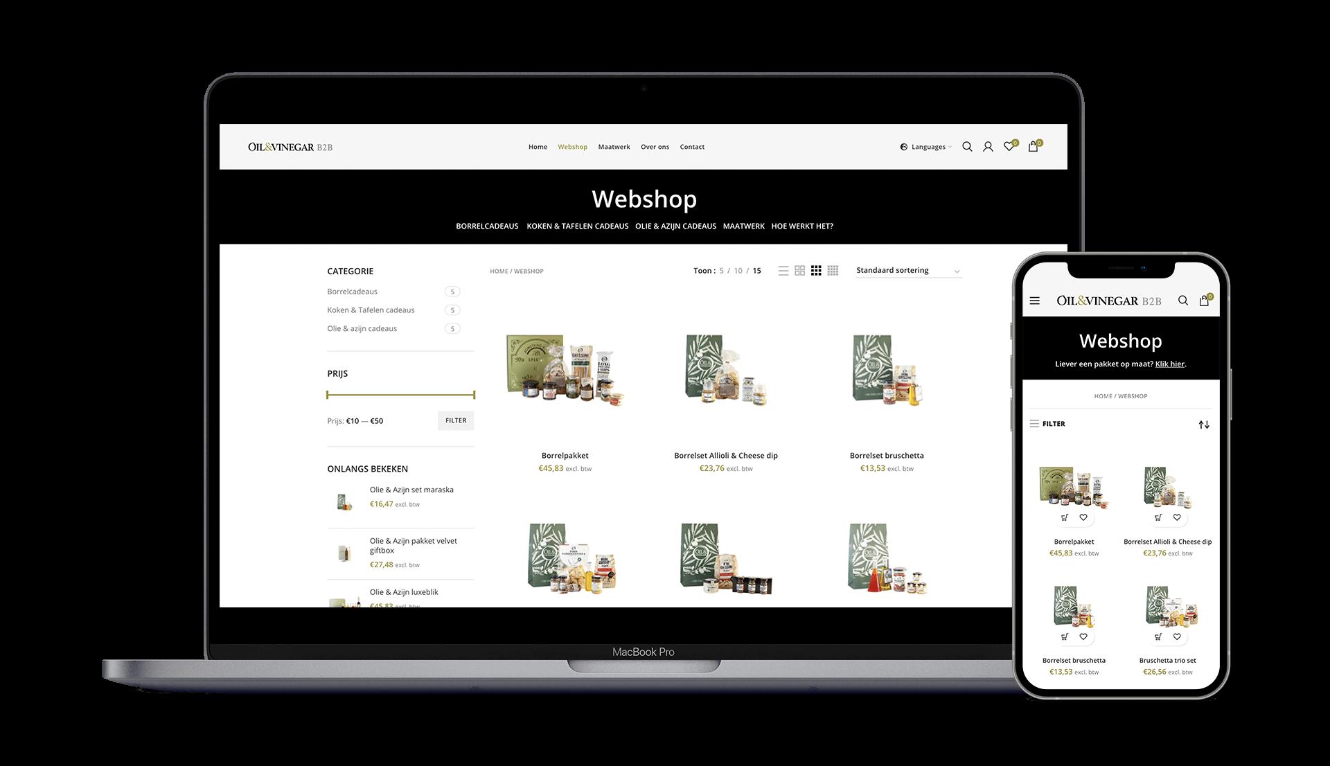 Webshop Oil & Vinegar